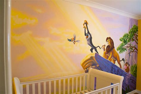 Wall Stickers For Boy Nursery lion king mural simba s inauguration sacredart murals