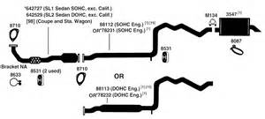 Saturn L200 Exhaust System Diagram Saturn Sl Series Exhaust Diagram From Best Value Auto Parts