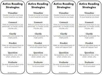 printable bookmarks reading strategies reading strategy bookmarks free by iheartliteracy tpt