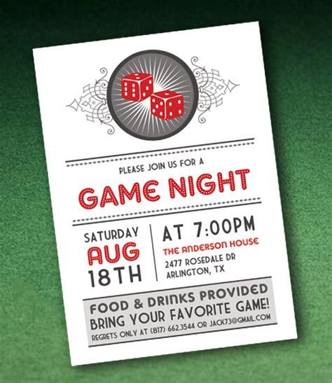 Casino Night Invitation Template With Dice Download Print Casino Invitation Template Free