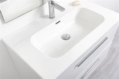 mobili bagno per lavabo con colonna mobile bagno sospeso 100 cm bianco laccato con lavabo