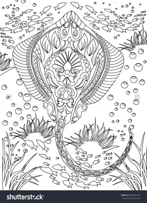 Sea Colouring Book 936 best colouring the sea fish mermaids