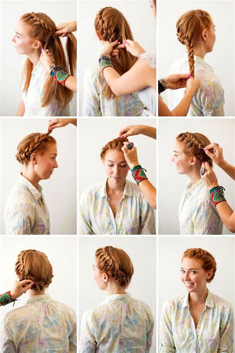 different ways to braid hair to sew in weave french crown braid 3 new ways to add bobby pins to your