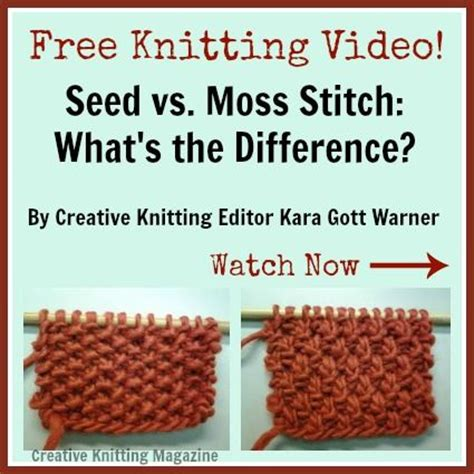 how to do seed stitch knitting free knitting quot seed vs moss stitch what s the