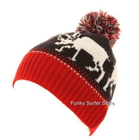 mens womens ski hat beanie wooly novelty reindeer hat