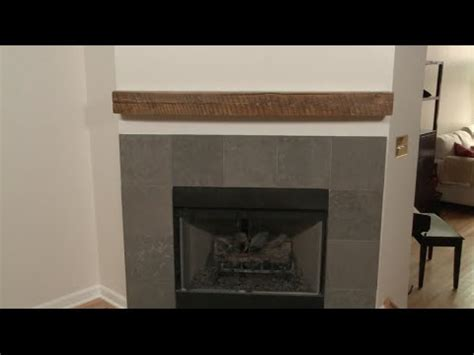 How To Install A Wood Beam Fireplace Mantel by How To Install A Fireplace Mantel