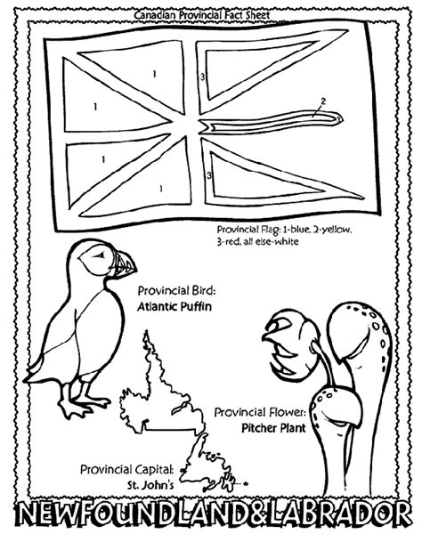 coloring pages of newfoundland canadian province newfoundland and labrador coloring