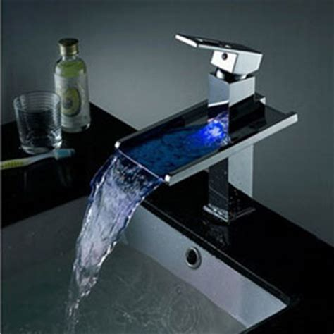 Kitchen Faucet Low Pressure by Contemporary Color Changing Led Pop Up Waste Waterfall