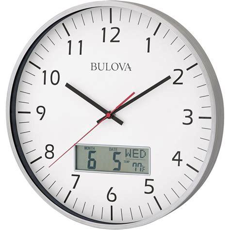 Kitchen Furniture List bulova 14 in h x 14 in w round wall clock c4810 the