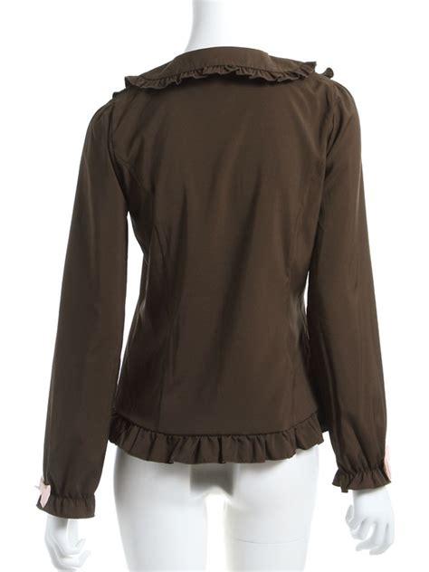 Blg Ribbon Collar Baju Rajut dreamv rakuten global market lovely chocolate color scheme 3 ribbon collar ruffled