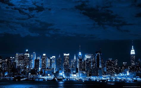 cortana what color is the sky blue neon cityscape blue wallpaper 34674370 fanpop