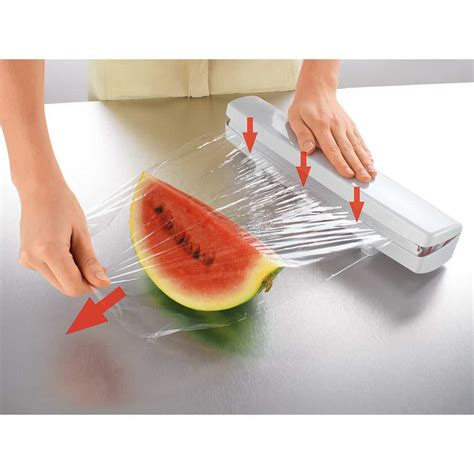 Harga Plastik Wrapping Makanan by Wraptastic Wrap Dispenser Cling Kitchen Aluminium