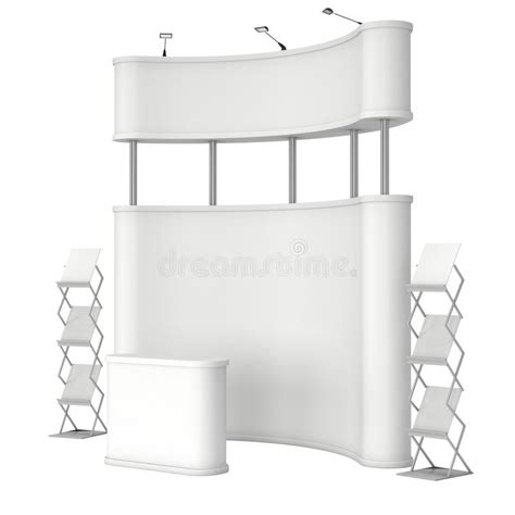 Pop Up Reception Desk Pop Up Stand With Reception Desk And Magazine Rack Stock Illustration Illustration Of
