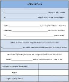affidavit form template 33 printable affidavit form template exles thogati