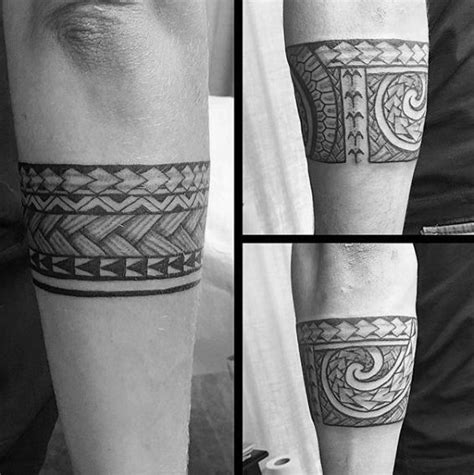 tatto ideas 2017 cool tribal forearm armband male