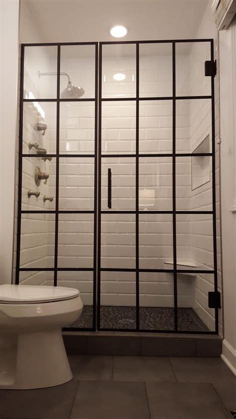 Grid Shower by Door Grid Steel Grid Bank Security Door Pair Available