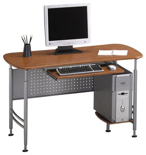 Metal Computer Desk With Hutch Mayline Eastwinds Santos Small Metal Computer Desk With Wood Leather Office Chai Contemporary