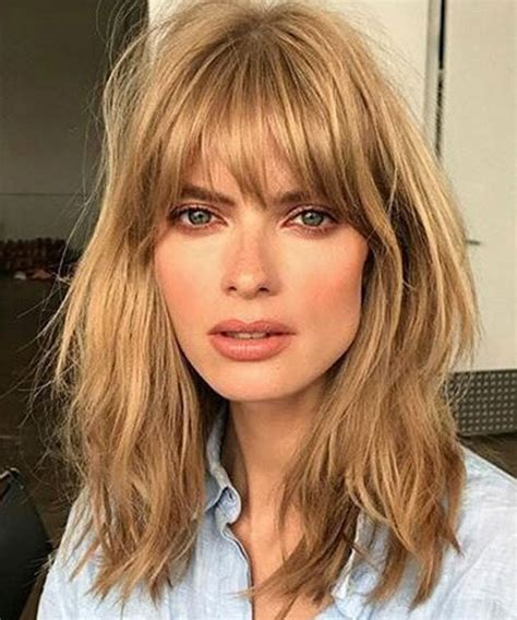 long choppy bob with fringe choppy long bob with bangs www pixshark com images