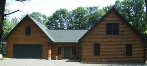 modular log home photos exterior