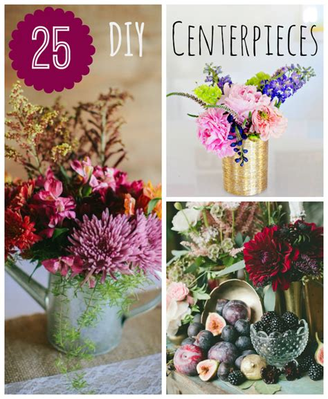 Do It Yourself Home Decorations by 25 Diy Wedding Centerpieces