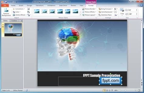 Animated Skull Template For Powerpoint Presentations Edit Powerpoint Template