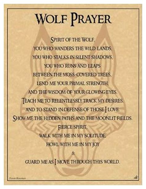 pagan parchment poster wolf prayer travis bowman | the