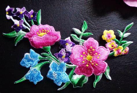 applique iron on iron on applique flower ebay