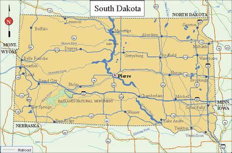 south dakota on us map south dakota facts and symbols us state facts