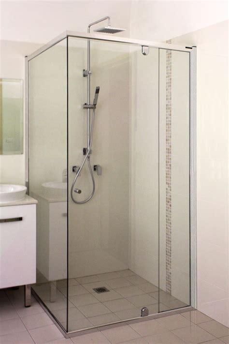 Shower Screen Corner Bath semi frameless shower screen white bathroom co