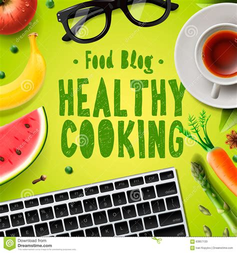 cooking blogs food blog healthy cooking recipes online stock
