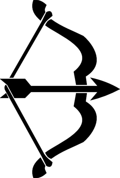 Busur Panah Anak Black Recurve Bow bow and arrow clip at clker vector clip royalty free domain