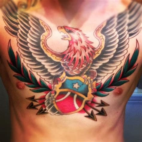 tattoo chest shield long beach tattoos shield chest piece done by tom