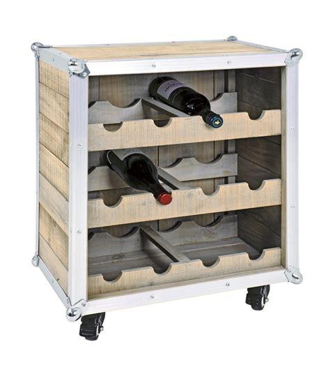 alpha wooden wine rack with wheels 28153