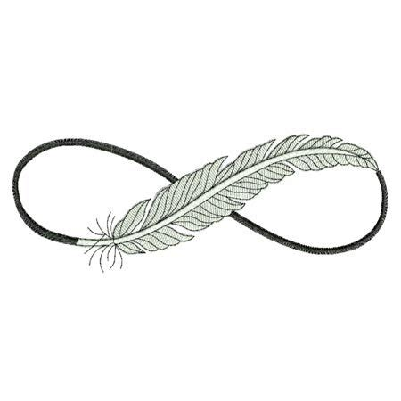 infinity symbol with feather infinity feather 3 sizes products swak embroidery