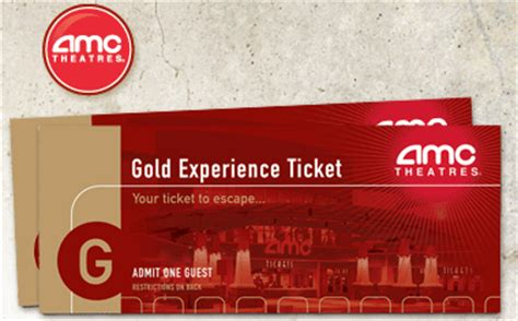 costco printable movie tickets costco get two amc gold experience movie tickets for 11 99