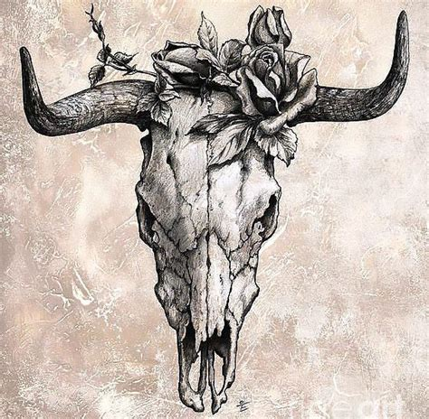 bull skull tattoo meaning bull skull design