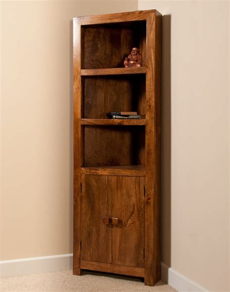 wooden corner bookcase solid mango wood corner bookcase casa indian