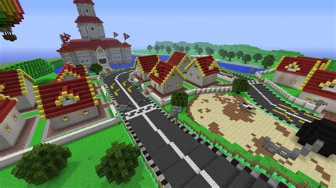minecraft boat go up mario s circuit built in minecraft youtube