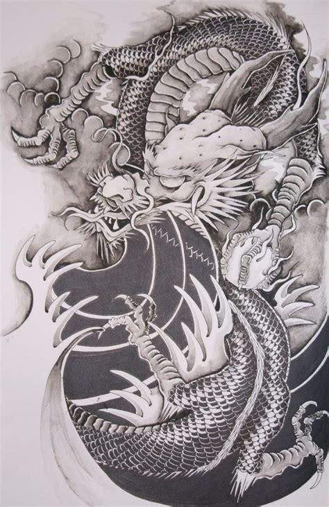 oriental tattoo black and white best 25 japanese dragon tattoos ideas on pinterest