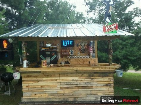 backyard bars designs homemade bar made from old pallets and beams beer