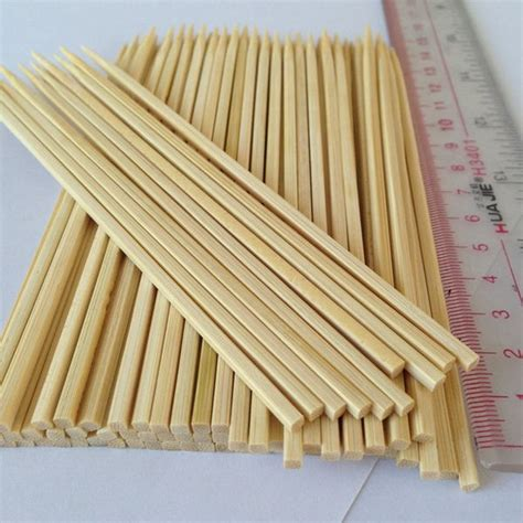 persegi bambu tusuk sate 50 cm permen benang tongkat untuk