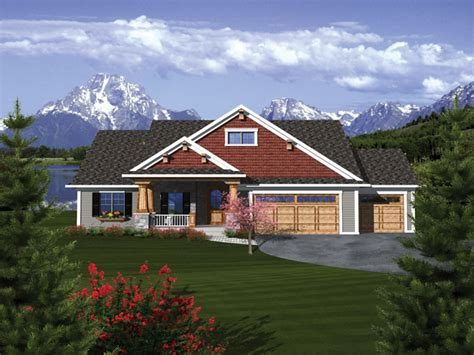 craftsman ranch house plans with 3 car garage craftsman