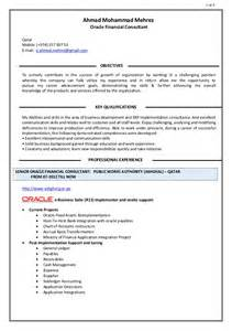 Financial Consultant Sle Resume by Ahmad Mehrez Oracle Financial Consultant Resume