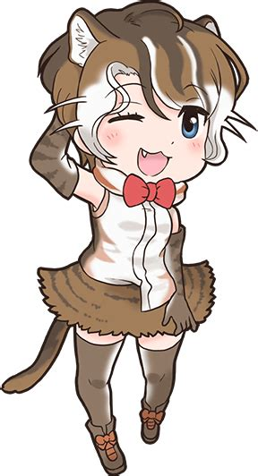 flat headed cat japari library  kemono friends wiki