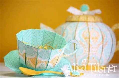 How To Make A Paper Teapot - teapot and teacup by alisa tilsner www alisatilsner