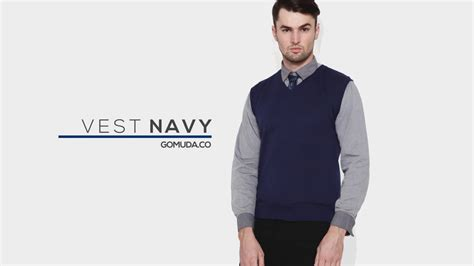 Sweater Rajut Hitam vest sweater rajut pria gomuda