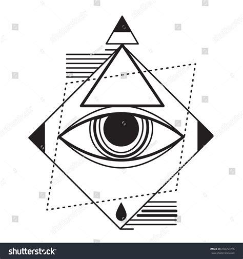 geometric tattoo vector trendy style geometric tattoo design hipster stock vector