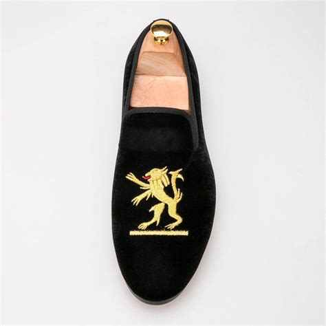 Handmade Mens Slippers - new velvet shoes handmade embroidered velvet