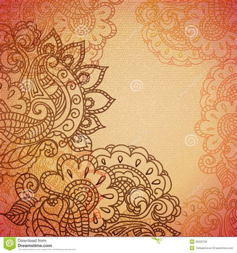 yellow indian pattern background vintage paisley ornament background stock vector image