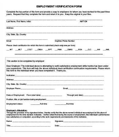 Employment Verification Letter Dcf employment verification form functional captures printable
